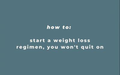 BEGINNERS GUIDE TO STARTING A WEIGHT LOSS REGIMEN